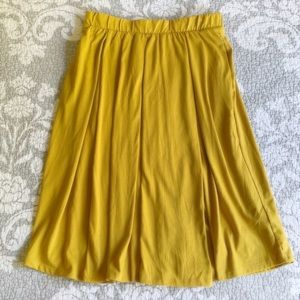 LuLaRoe Solid Mustard Yellow Madison Skirt